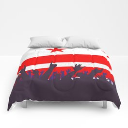 Washington DC Flag with Audience Comforters