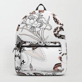 Rose Gold Snake Backpack