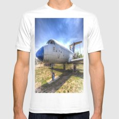 Jak-40 Aircraft White MEDIUM Mens Fitted Tee