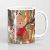 santa Mugs featuring Santa by lillianhibiscus
