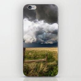 Aquamarine - Storm Over Colorado Plains iPhone Skin