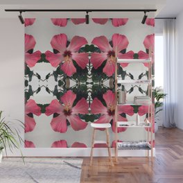 Hibiscus Photographic Pattern #1 Wall Mural