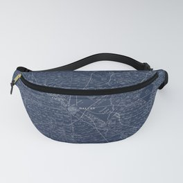 Map Of Dallas 1884 Fanny Pack