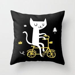 Get a bike Throw Pillow