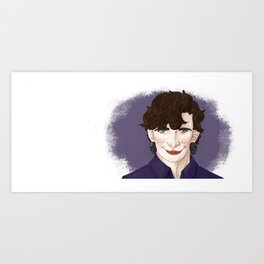 Non-binary Sherlock (Right-hander vr.) Art Print