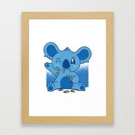 Blue Baby Koala Framed Art Print