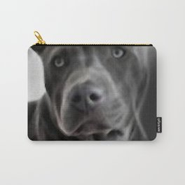 Pit Bull lover, a portrait of a beautiful Blue Nose Pit Bull Carry-All Pouch