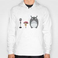 tim burton Hoodies featuring Tim Burton Totoro by Grace Isabel