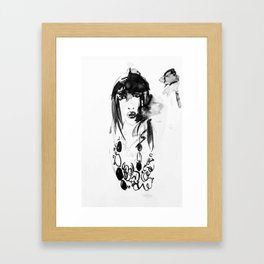 Face Of A Young Woman Framed Art Print