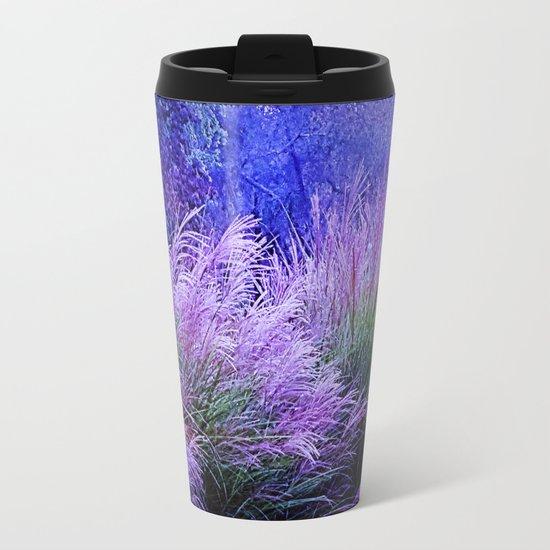 Purple long grass Metal Travel Mug