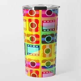 Colorful camera pattern Travel Mug