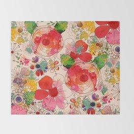 joyful floral decor Throw Blanket