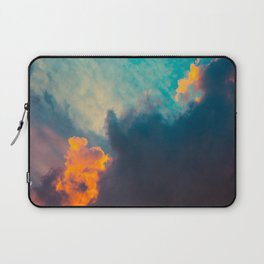 Beautiful Colorful Cotton Candy Clouds Blue Orange hues Ombre Gradient Fluffy Cotton Candy Texture Laptop Sleeve