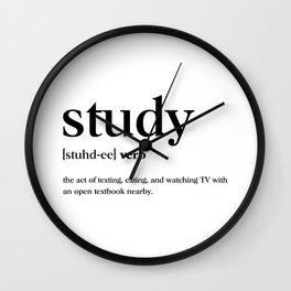Study Definition Wall Clock