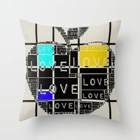 valentines Throw Pillows featuring valentines by FeryalSurel