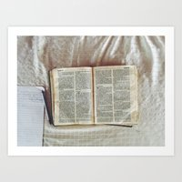 bible Art Prints featuring Bible by DavidElSquid