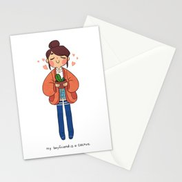 Cactus Boyfriend Stationery Cards