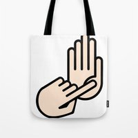 oakland Tote Bags featuring Oakland County Michigan Hand Map by Cileas