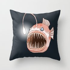 Anglerfish Throw Pillow
