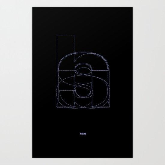 Die Neue Haas Grotesk (B-02) Art Print