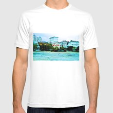 The entrance to the island. Mens Fitted Tee White MEDIUM