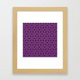 Hexagonal Circles - Elderberry Framed Art Print
