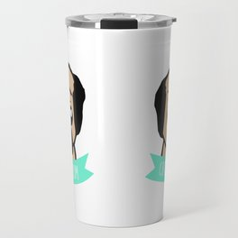 Crazy Pug Mom illustration Travel Mug