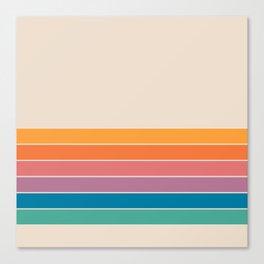Boca Spring Stripes Canvas Print