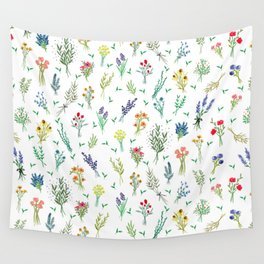 Garden Bouquets Wall Tapestry