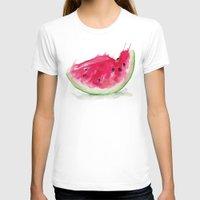 watermelon T-shirts featuring Watermelon by Bridget Davidson