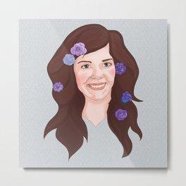 Flower Mama Metal Print