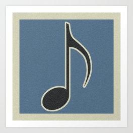 Eighth Note Blue Art Print