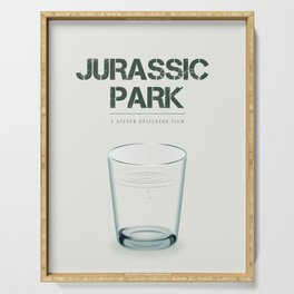 Jurassic Park - Alternative Movie Poster Serving Tray