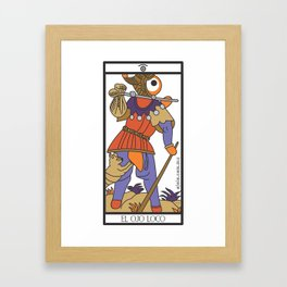 el ojo loco Framed Art Print
