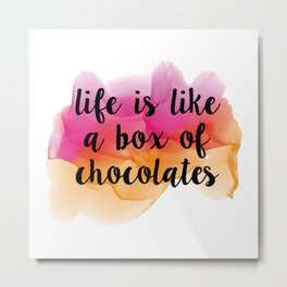 Box of chocolates Metal Print