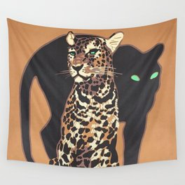 1912 Munich Zoo Green-Eyed Leopold Vintage Advertising Poster Wall Tapestry