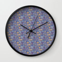 Color small fishes and sea Wall Clock