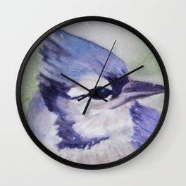 BEAUTIFUL BLUE BIRD Wall Clock