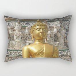 Golden Buddha at Wat Arun. Rectangular Pillow