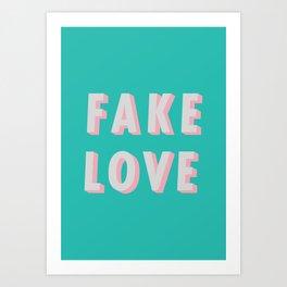 44871b595ea8 Fake Love - Typography Art Print