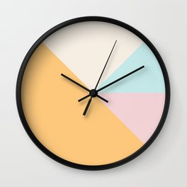 Modern Minimal Geometry Wall Clock