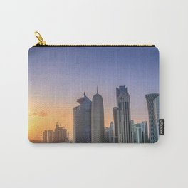 Doha, Qatar skyline at sunset Carry-All Pouch