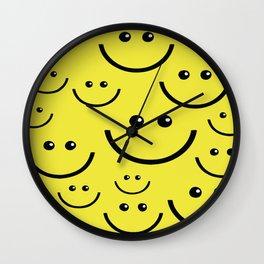 SMILEY FACE Abstract Art Wall Clock