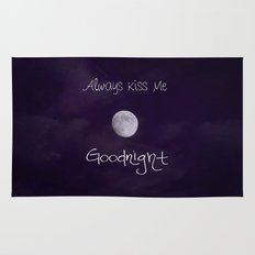 Always Kiss Me Goodnight Rug