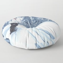Dropping The Dream Forest Floor Pillow