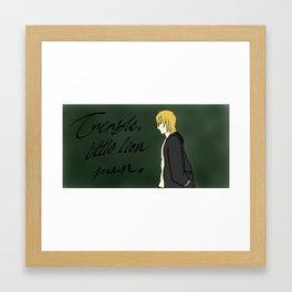Little Lion Man Framed Art Print
