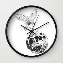 Owl Moon Wall Clock