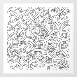 Curved lines 1 Art Print