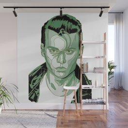Johnny Depp - Green Wall Mural