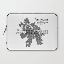 Amsterdam Map Laptop Sleeve